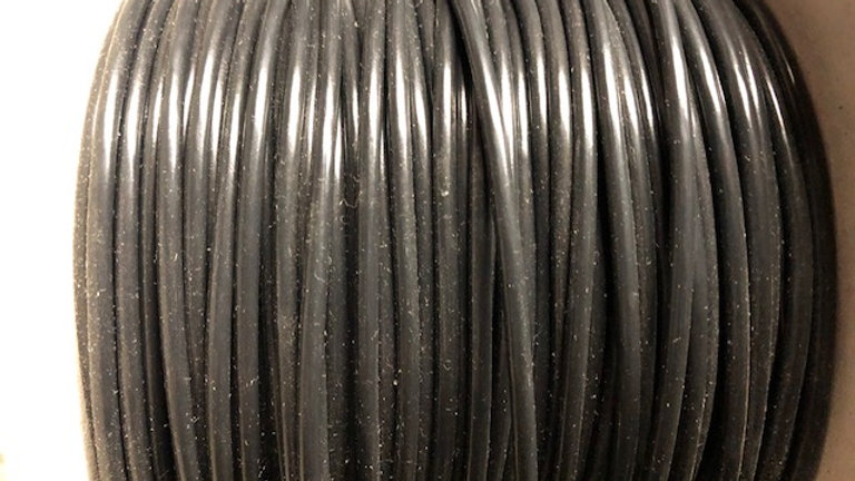3mm Black Thin Wall Cable