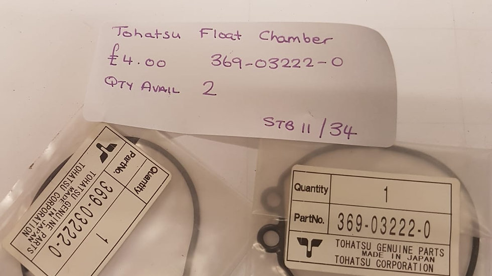 Tohatsu Float Chamber Gasket 369-03222-0