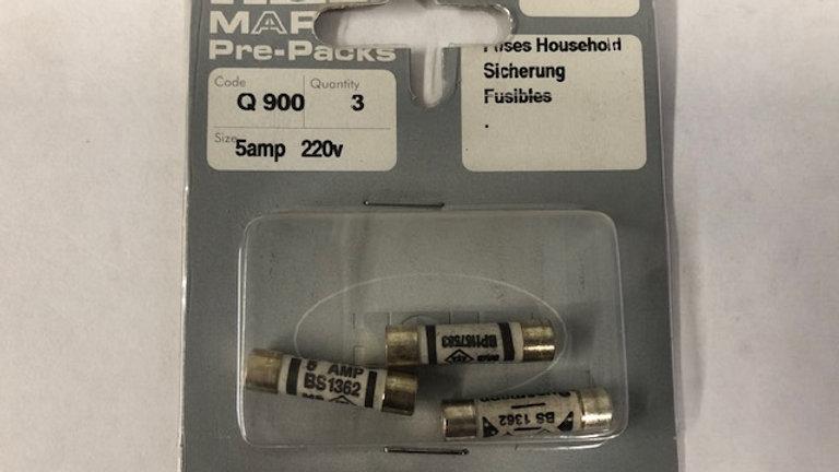 Household fuses 5 AMP 250V