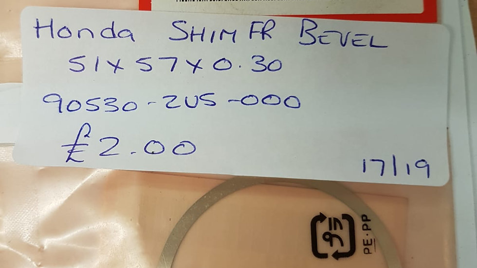 Honda Shim FR Bevel 90530-ZV5-000