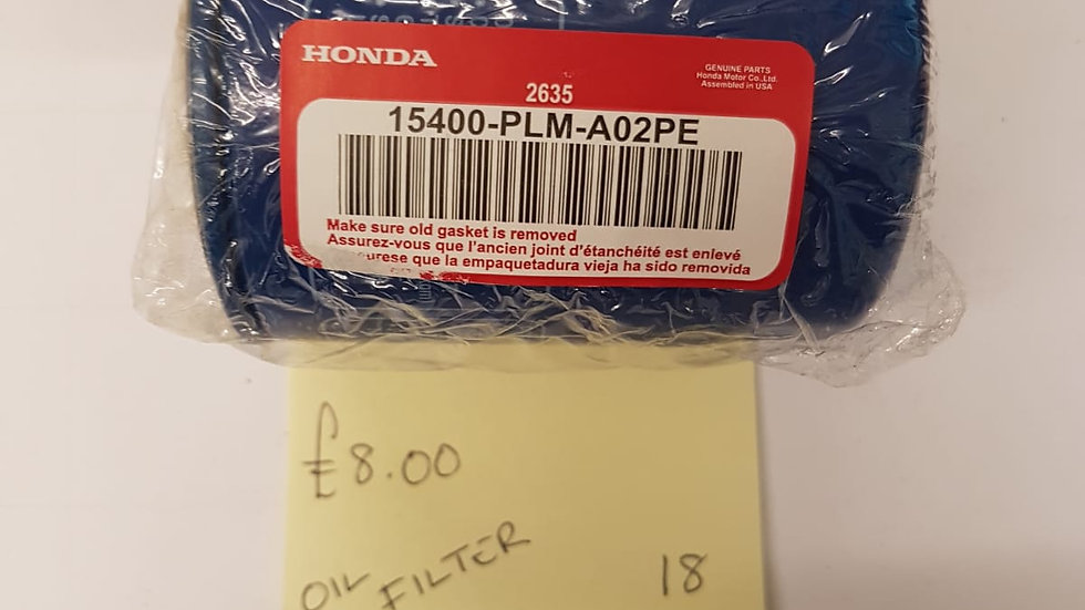 Honda Oil Filter 15400-PLM-A20PE