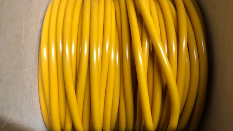 3mm Yellow Thin Wall Cable