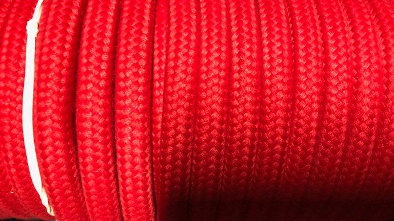 Red Matt Polyester 24 Plait