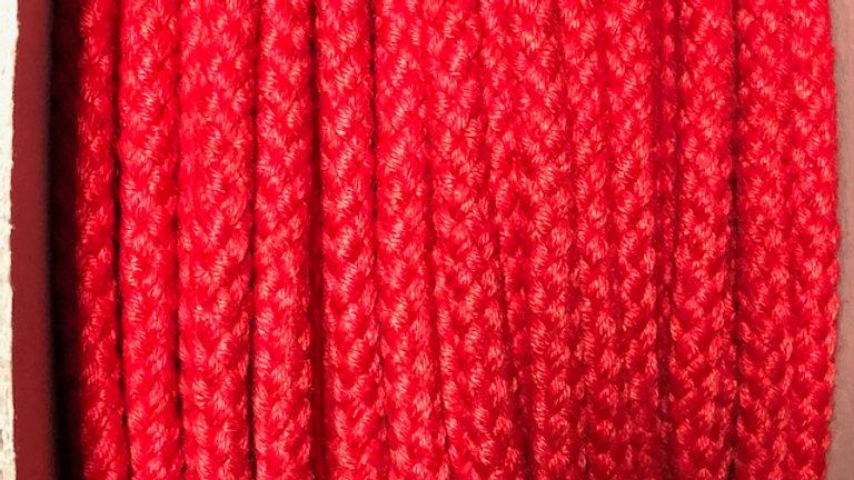 Red Matt Polyester 8 plait