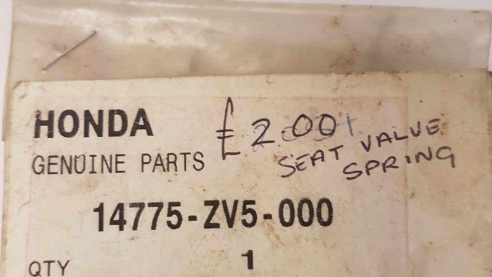 Honda Seat Valve Spring 14775-ZV5-000