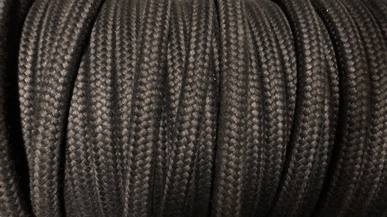 Black Matt Polyester 16 Plait
