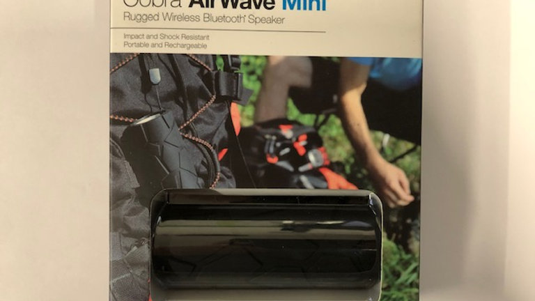 Cobra AirWave Mini Rugged Wireless Bluetooth Speaker