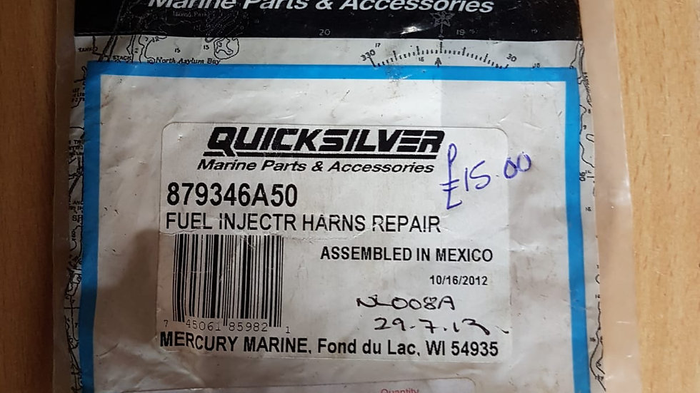 Quicksilver Fuel Injector Harness Repair Kit 879346A50