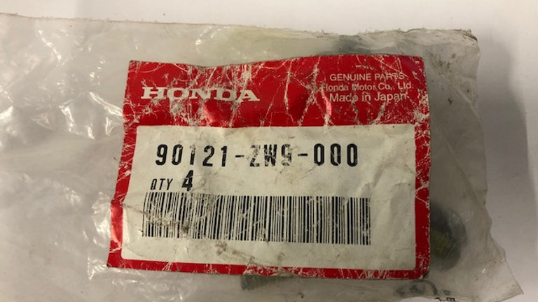 Honda Bolt & Washer 90121-ZW9-000