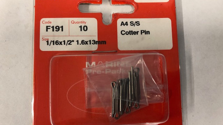 A4 S/S Cotter Pins (split pins)