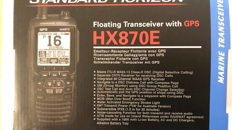 Standard Horizon HX870E Floating Transceiver with GPS