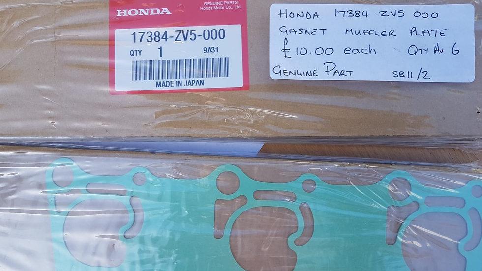 Honda Gasket Muffler Plate 17384-ZV5-000