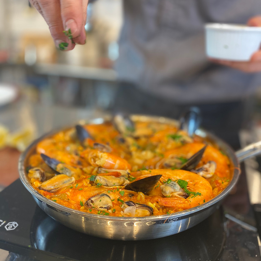 Seafood Paella at Home ~ 5:30 pm