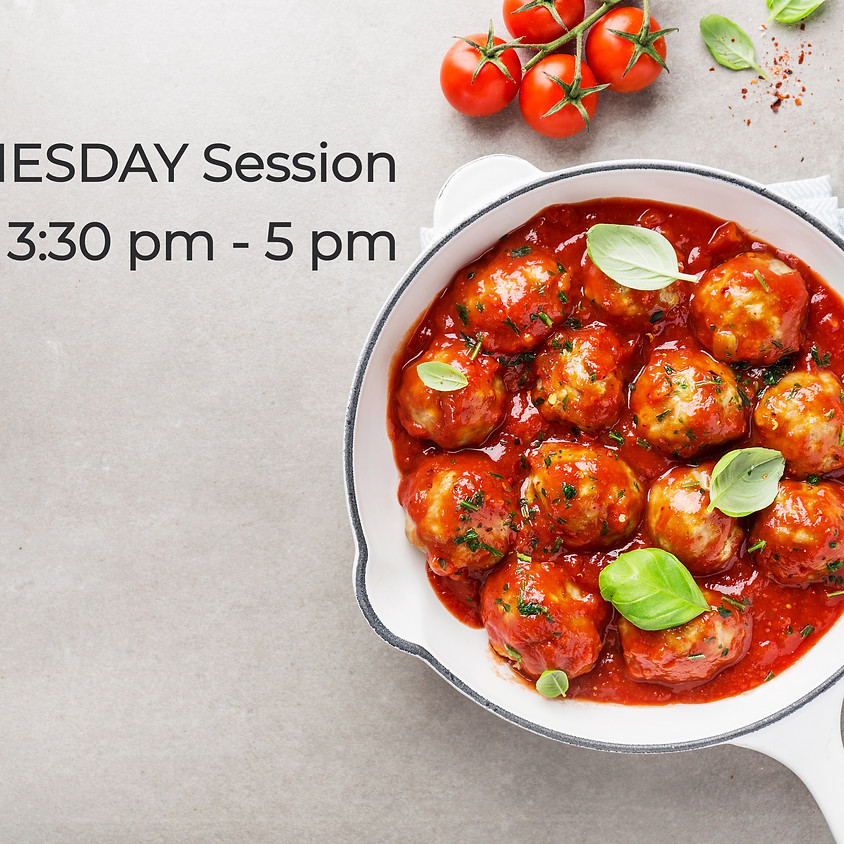 WEDNESDAY Cooking Series ~ 3:30 PM