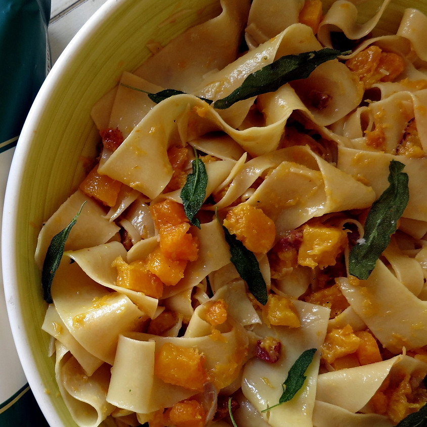 Quick Dinner: Pasta with Butternut Squash