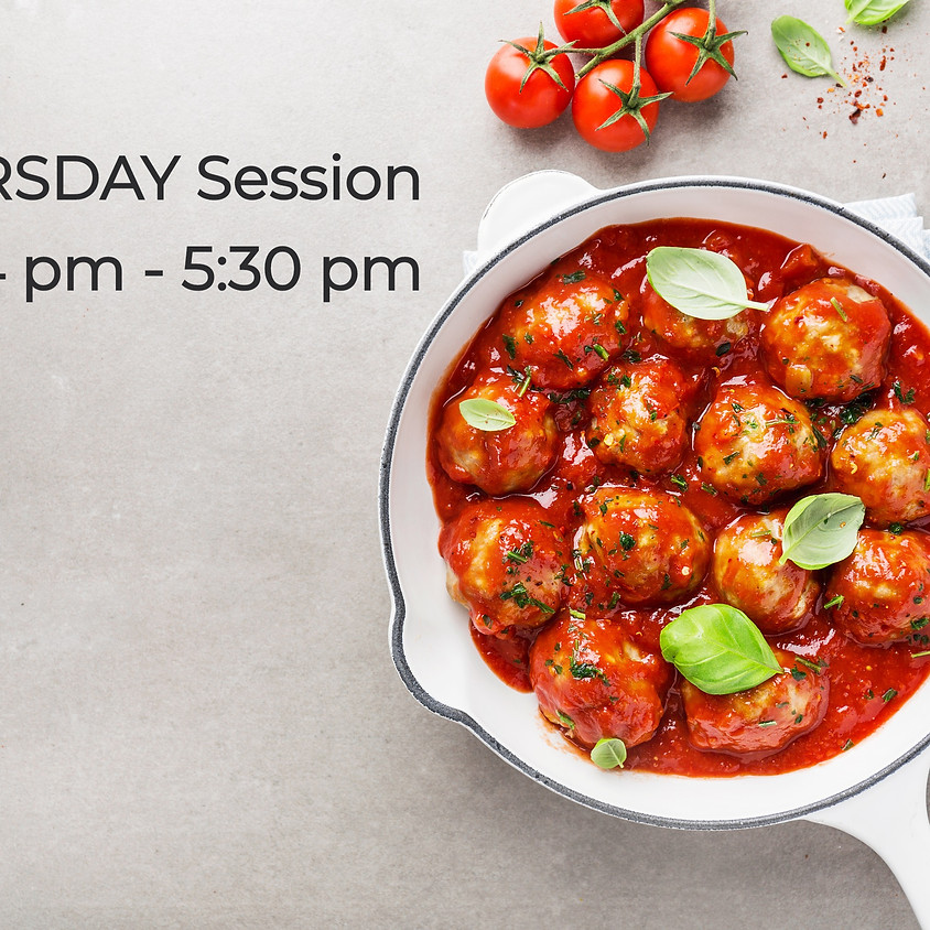 THURSDAY Cooking Series ~ 4:00 PM