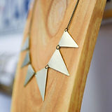 Geometric brass triangle collar necklace
