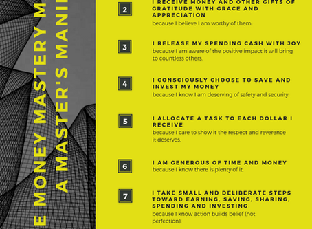 The Master's Manifesto | Money Management