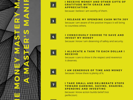 The Master's Manifesto | Money Management