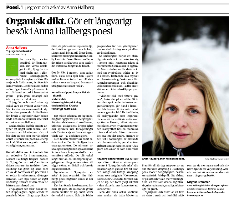 Gästrecension, DN 14 januari 2014.