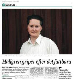 Recension av Hanna Hallgren SvD 2015