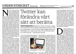 """Essä om """"twitteratur"""", SvD 2009."""
