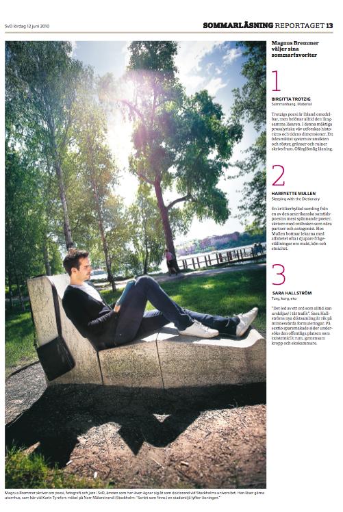 Tipsar om sommarläsning, SvD 2010.