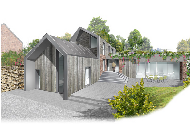 PLANNING GRANTED FOR EXCITING NEW-BUILD ON GARDEN PLOT