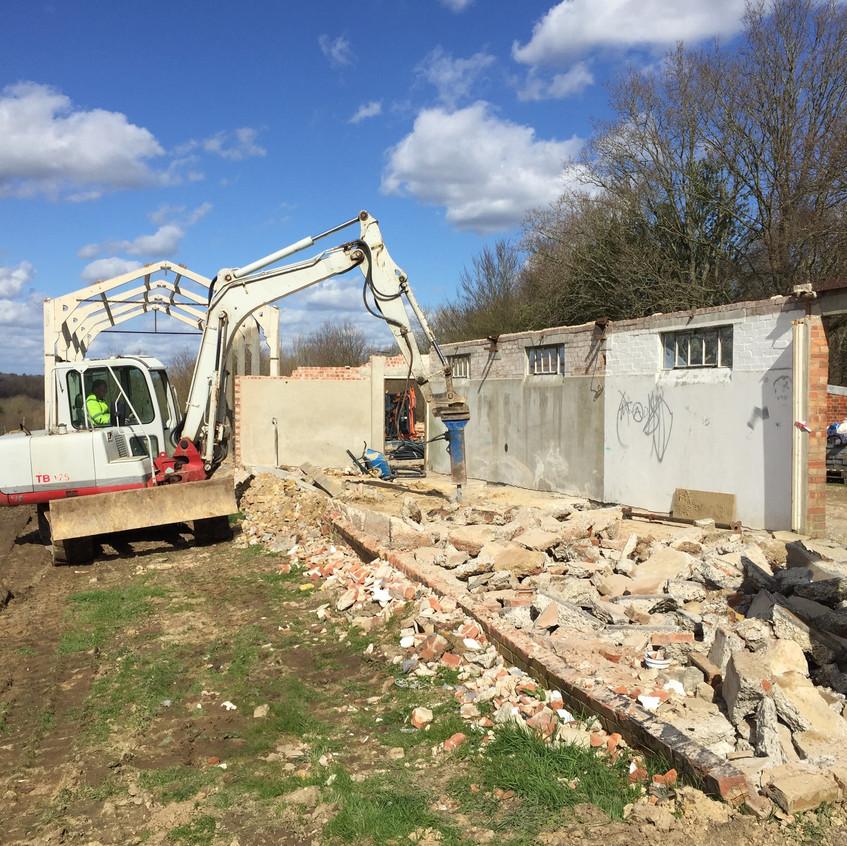 Demolition of Milking Shed