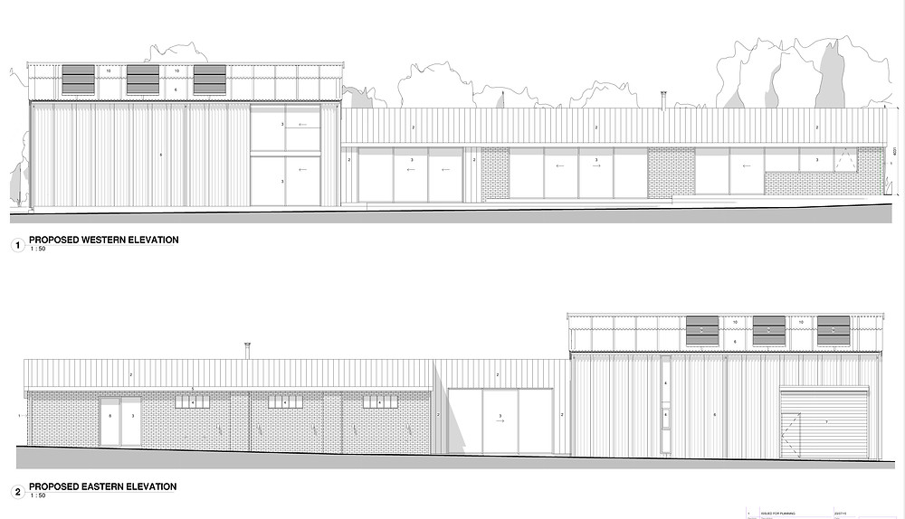 Proposed Residential Conversion - Front + Rear Elevation