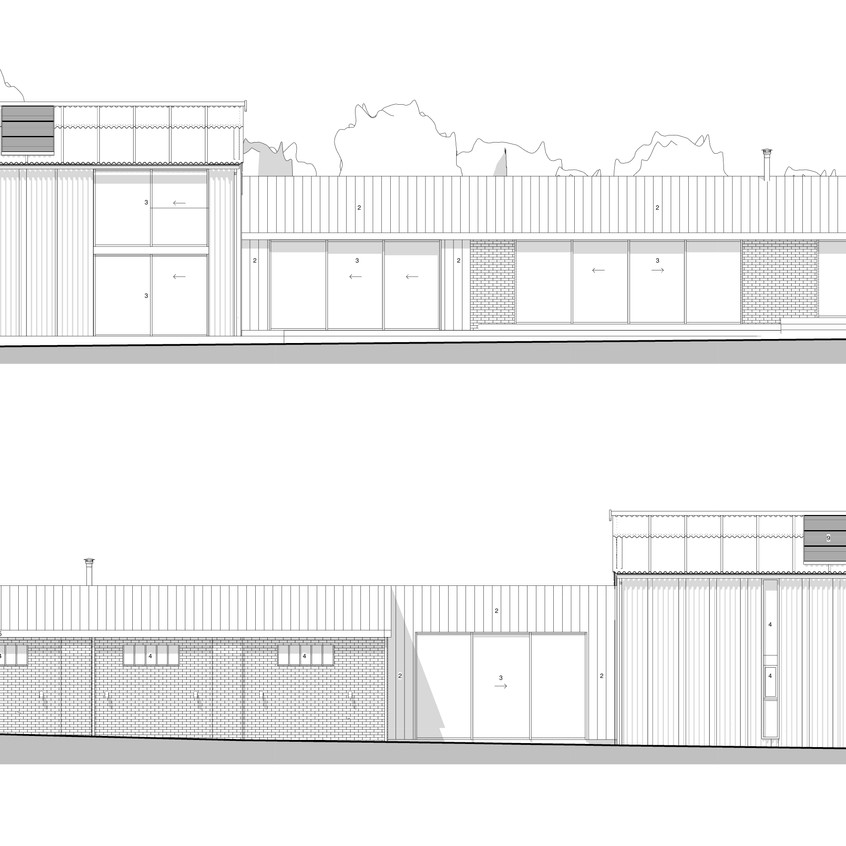 Proposed Front + Rear Elevations