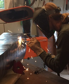 Karen Delaney welding