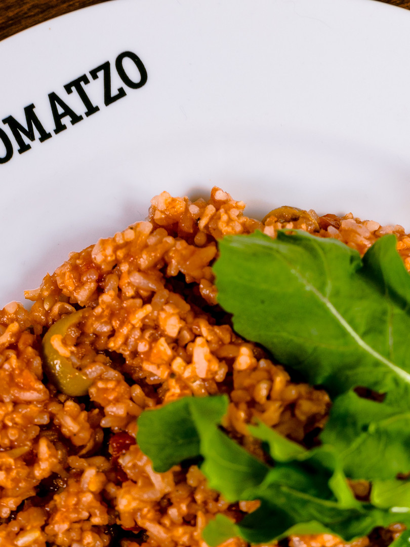 arroz de tomate seco com rucula  - Tomatzo