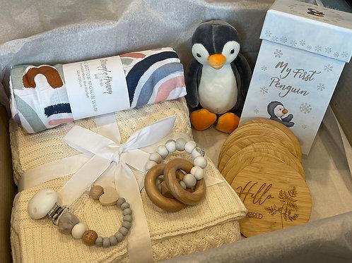Ultimate Baby Shower Gift Box - Penguin