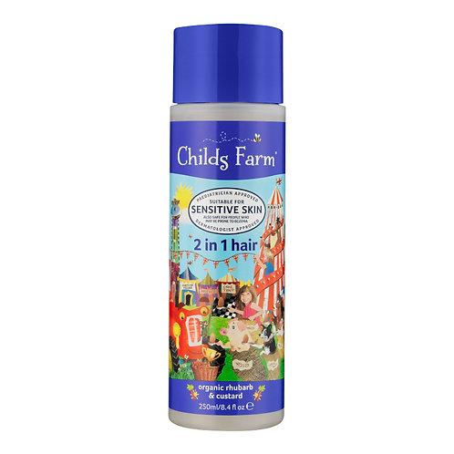 Childs Farm 2 in 1 shampoo & conditioner, organic rhubarb & custard