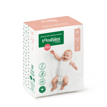Size 2 Infant Bamboo Nappies 4‑8KG