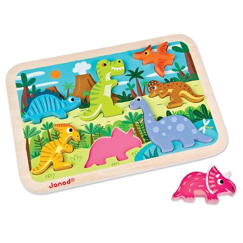 Janod - Dinosaur Chunky Puzzle