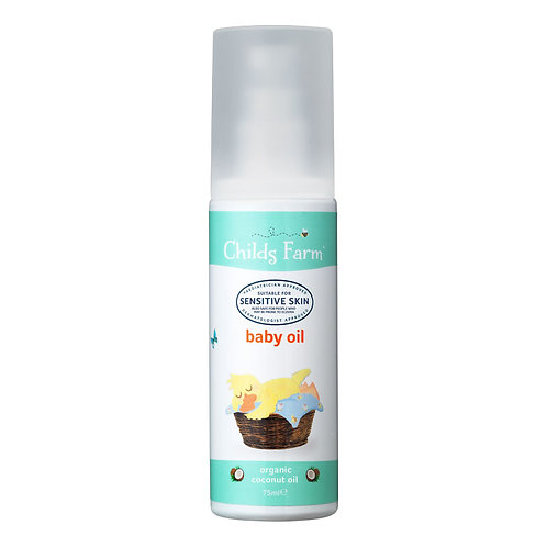 Childs Farm baby oil, organic coconut