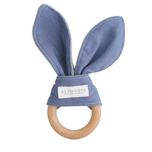 Bailey Bunny Teether Chambray Linen