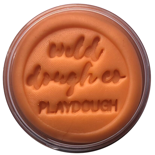 Sunset Orange Playdough