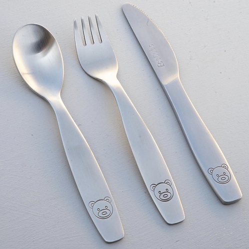 Eco Cubs Stainless Steel Cutlery Trio