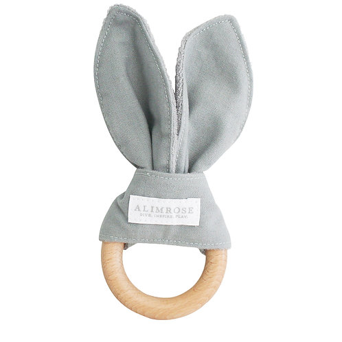 Bailey Bunny Teether Grey Linen
