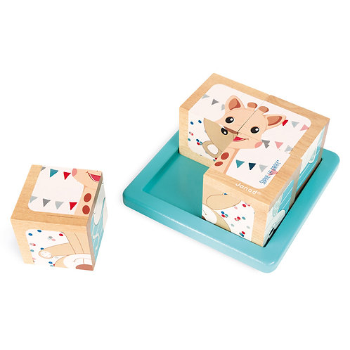 Janod - Sophie La Girafe 4 Block Puzzle
