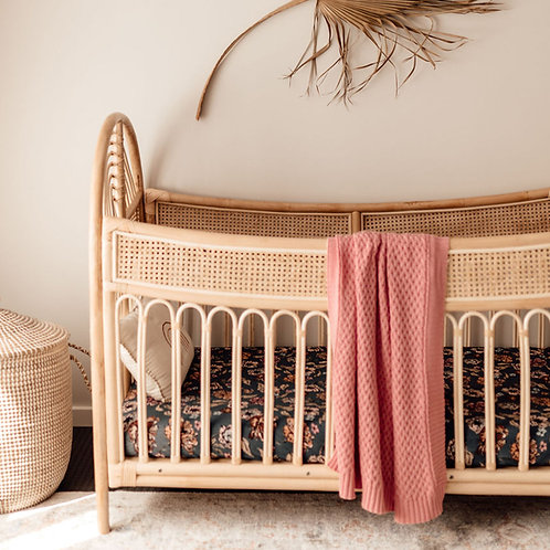 Rosa | Diamond Knit Baby Blanket