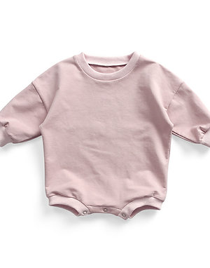 Tracksuit Romper - Baby Pink