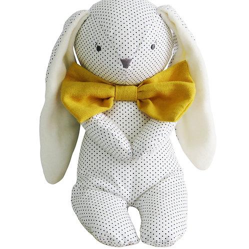 Roberto Floppy Bunny - 25cm Navy Spot & Bowtie