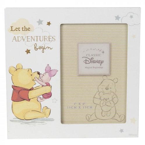 Pooh Bear Photo Frame 4x6 'Let the adventures begin'