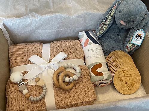 Ultimate Baby Shower Gift Box - Blossom Dusky Bunny