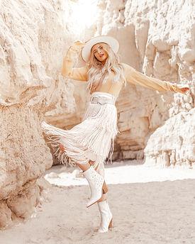 fashion lady wearing white hat