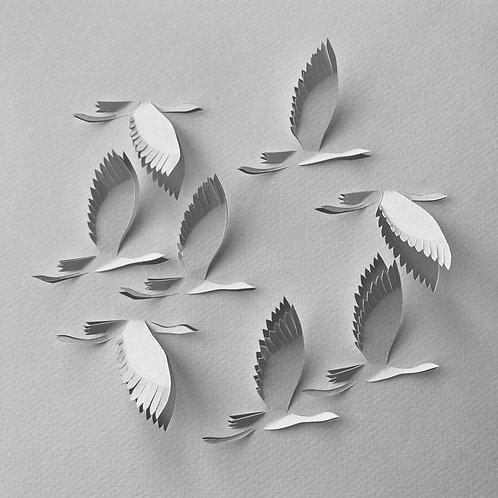 Papierobjekt 'Die Weite des Himmels'